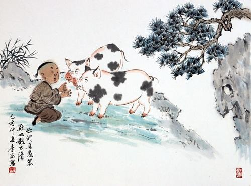 李涵国画小品展亮相艺林苑艺术馆 展现孩童趣事