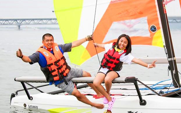 2019中国家庭帆船赛无锡鹅湖站开赛