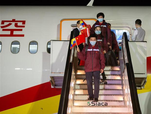 中国抗疫医疗专家组抵达委内瑞拉