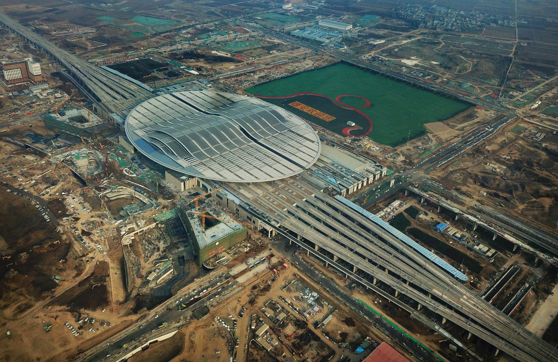 京雄城际铁路雄安站建设进入最后冲刺阶段