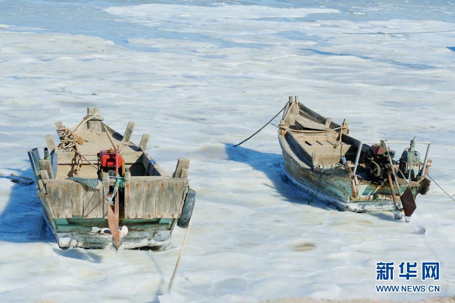 我国沿海部分区域结冰