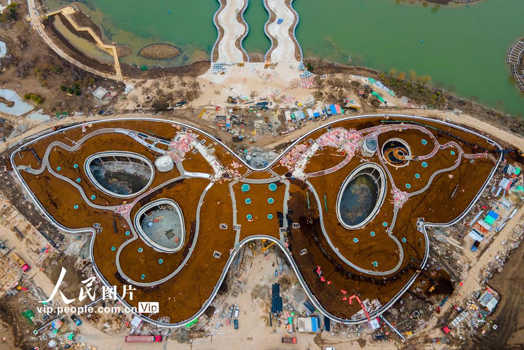 上海崇明:花博会建设如火如荼