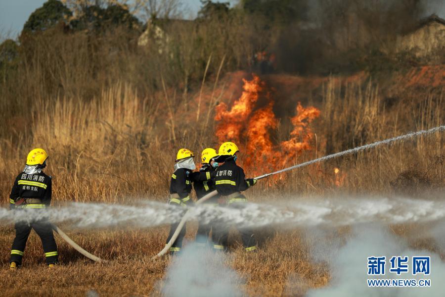 成都举行森林灭火应急演练