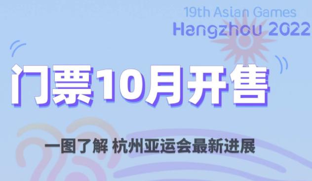 门票10月开售!一图解锁杭州亚运会最新进展